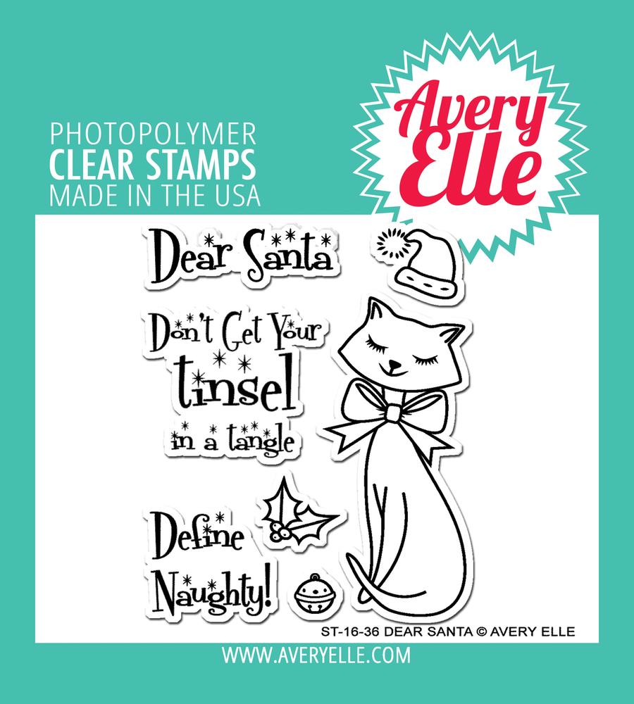 Avery Elle Dear Santa Clear Stamps