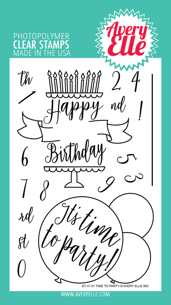 Avery Elle Time to Party Clear Stamps
