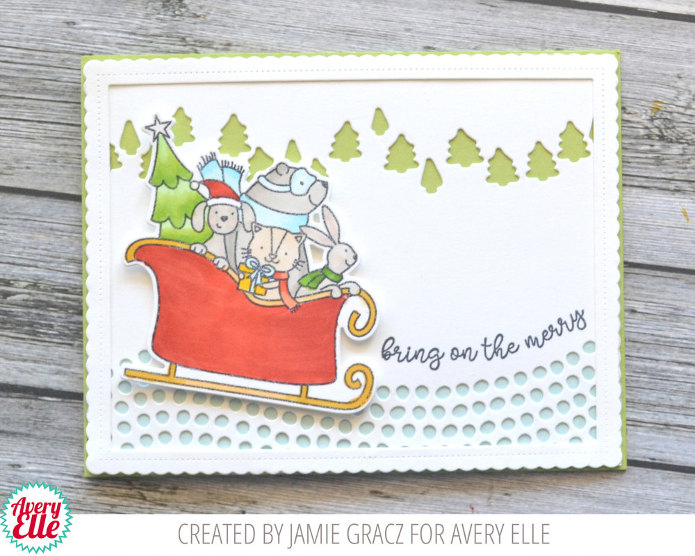 Sledding Critters Clear Stamps & Dies