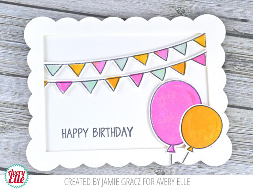 Balloons & Banners Clear Stamps & Dies