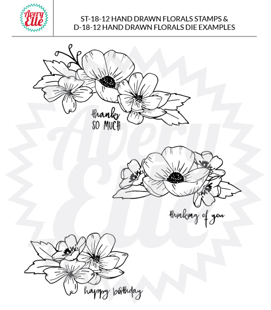 Hand Drawn Florals Example