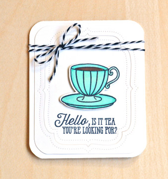 By Jamie Gracz for Avery Elle Inc.  Tea Time Clear Stamps.  You're Invited Elle-ments Dies.