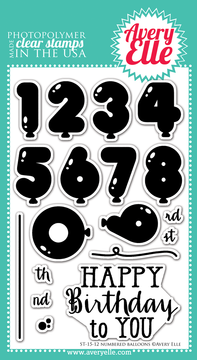 Clear Stamps - Numbered Balloons by Avery Elle Inc.