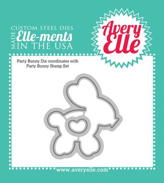 Custom Steel Dies - Party Bunny by Avery Elle Inc.