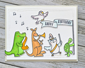 Band Camp Clear Stamps & Dies