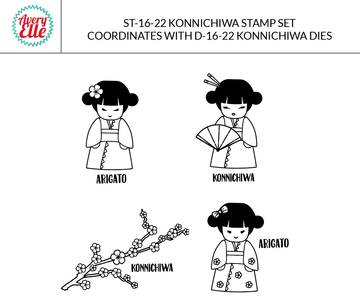 Konnichiwa Clear Stamps & Dies