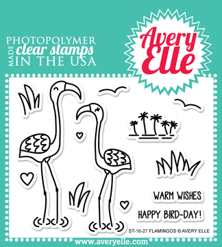 Avery Elle Flamingos Clear Stamps