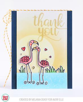 Flamingos Clear Stamps & Dies