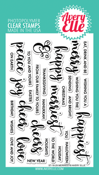 Avery Elle Merriest Clear Stamps