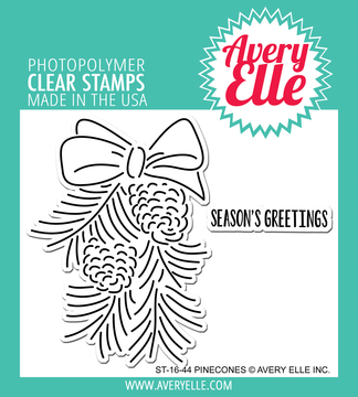 Avery Elle Pinecones Clear Stamps