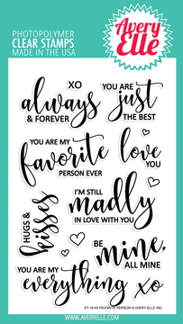 Avery Elle Favorite Person Clear Stamps