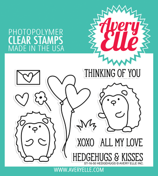 Avery Elle Hedgehugs Clear Stamps