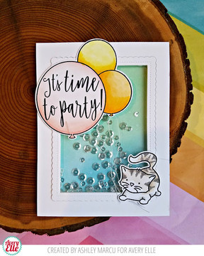 Time to Party Clear Stamps & Dies