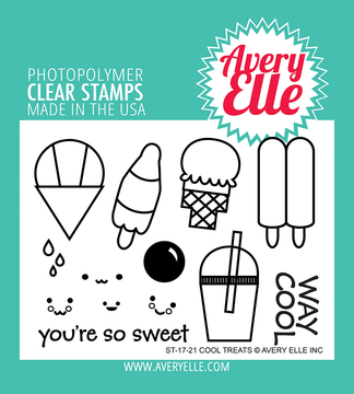 Avery Elle Cool Treats Clear Stamps