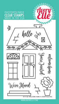 Avery Elle Welcome Home Clear Stamps