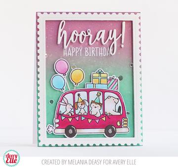 Birthday Bus Clear Stamps & Dies