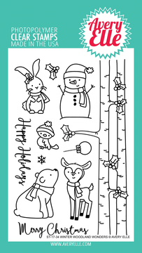 Avery Elle Winter Woodland Wonders Clear Stamps