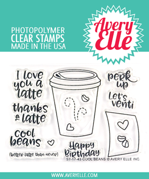 Avery Elle Cool Beans Stamp Set