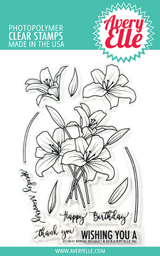 Avery Elle Spring Bouquet Clear Stamps