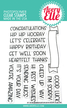 Avery Elle Banner Bits Clear Stamps