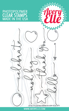 Avery Elle Floating Wishes Clear Stamps