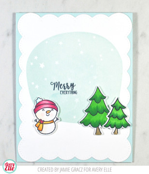 Starry Scene Clear Stamps & Dies