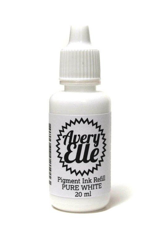 Our Pure White Ink Refills extends the life of our Pure White Pigment Ink Pads.