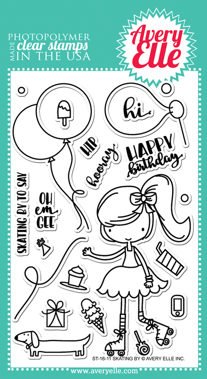Skating By Clear Stamps