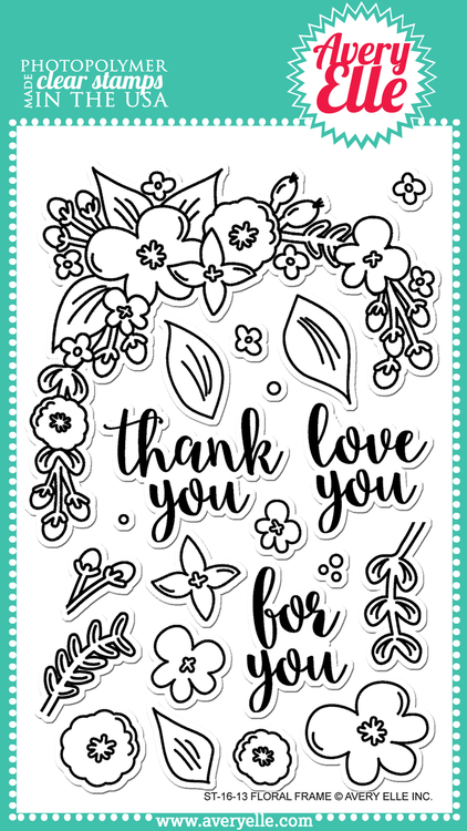 Floral Frame Clear Stamps