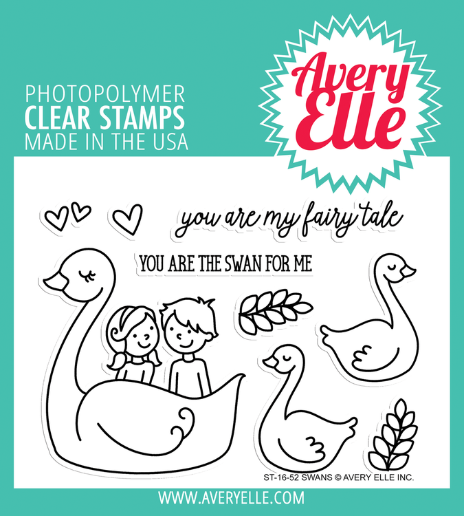 Avery Elle Swans Clear Stamps