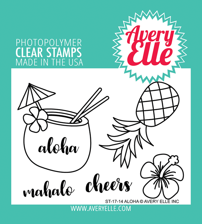 Avery Elle Aloha Clear Stamps