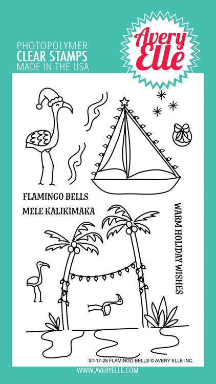 Avery Elle Flamingo Bells Clear Stamps