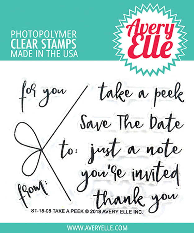 Avery Elle Take A Peek Clear Stamps