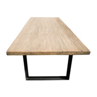 DINING TABLE INDUSTRIAL WALNUT (F087)