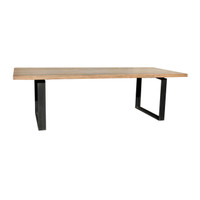 DINING TABLE INDUSTRIAL WALNUT (F097)