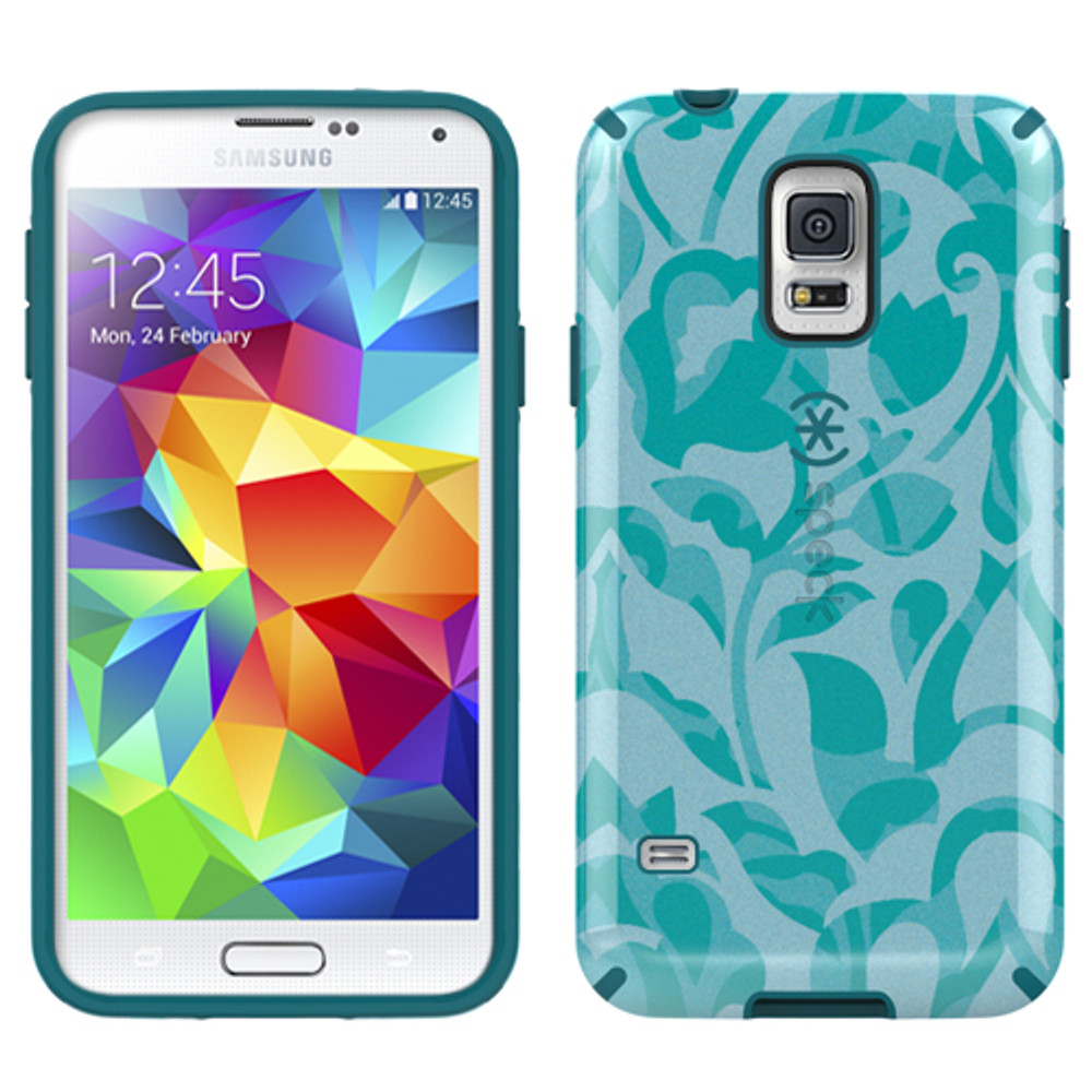 Speck CandyShell Inked for Samsung Galaxy S5 - WallFlowers / Atlantic Blue