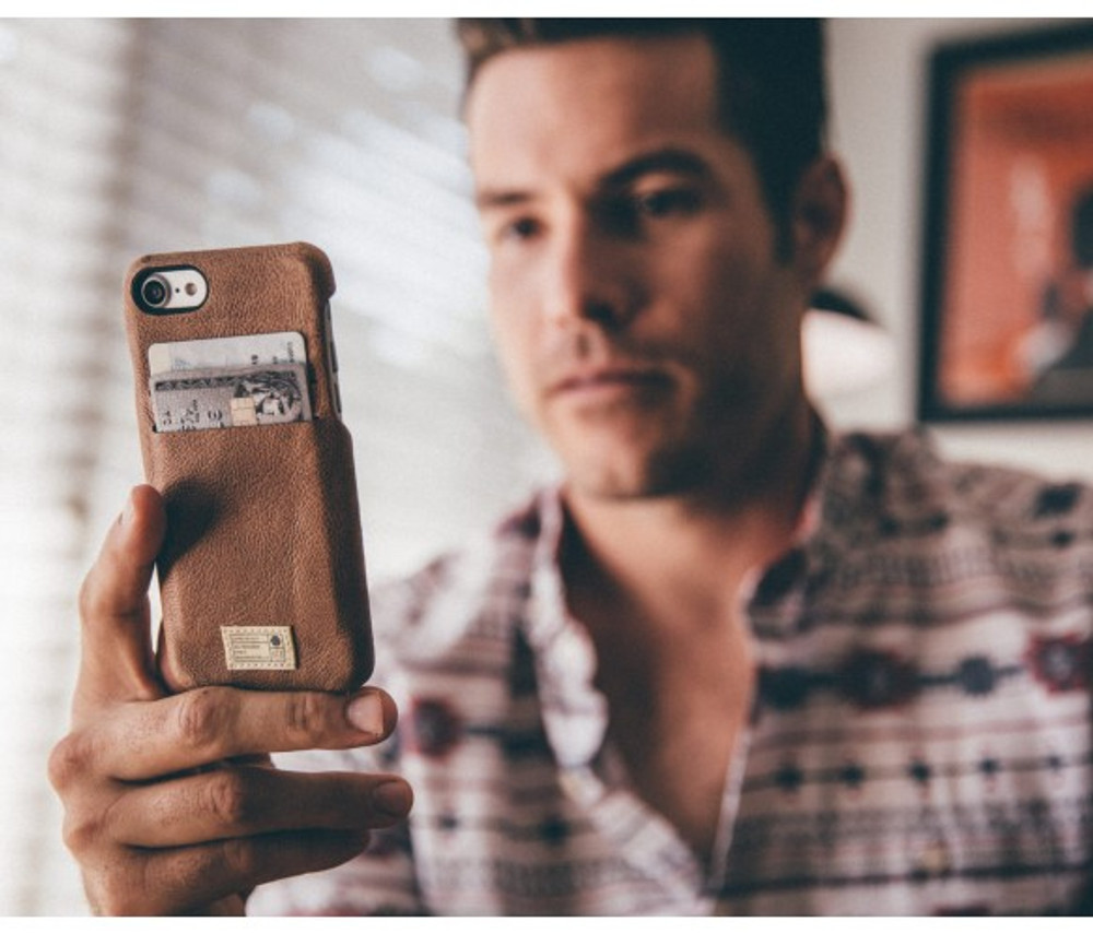 Hex Solo Wallet for iPhone 7 - Brown