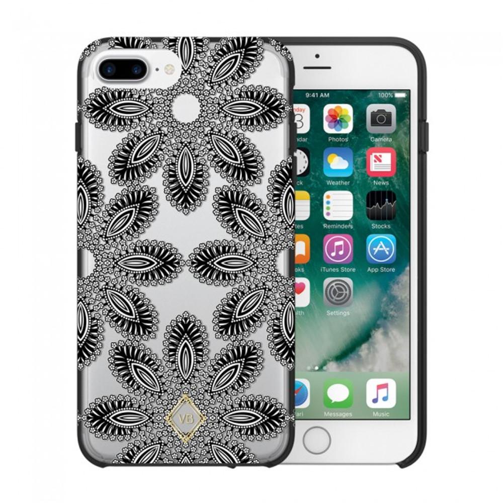 Vera Bradley Flexible Frame Case for iPhone 7 Plus, 6 Plus, 6S Plus - Blanco Bouquet Black / Cream