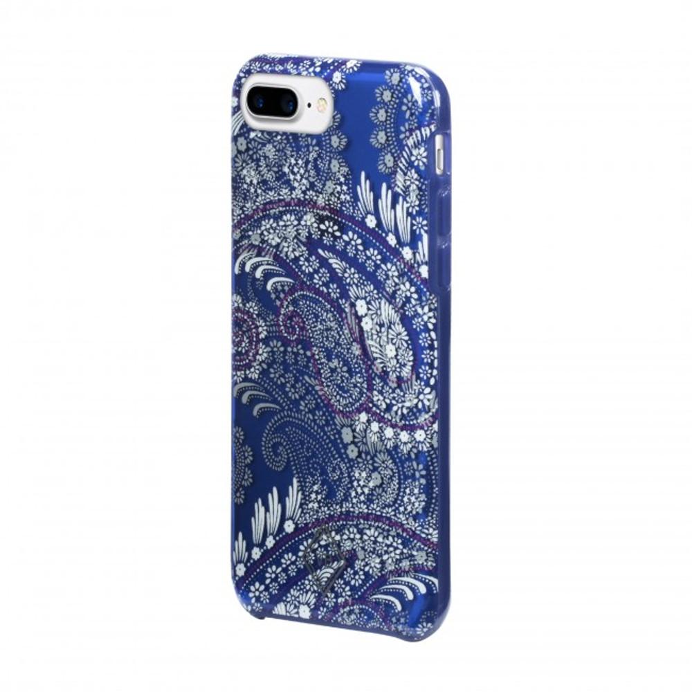 Vera Bradley Flexible Frame Case for iPhone 8 Plus, 7 Plus, 6 Plus - Paisley Petals Purple / Navy