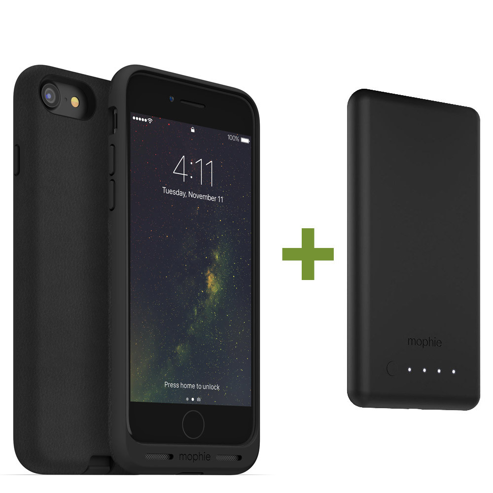 mophie  Charge Force Wireless Charging Bundle - Case / Base for iPhone 8 Plus / 7 Plus - Black