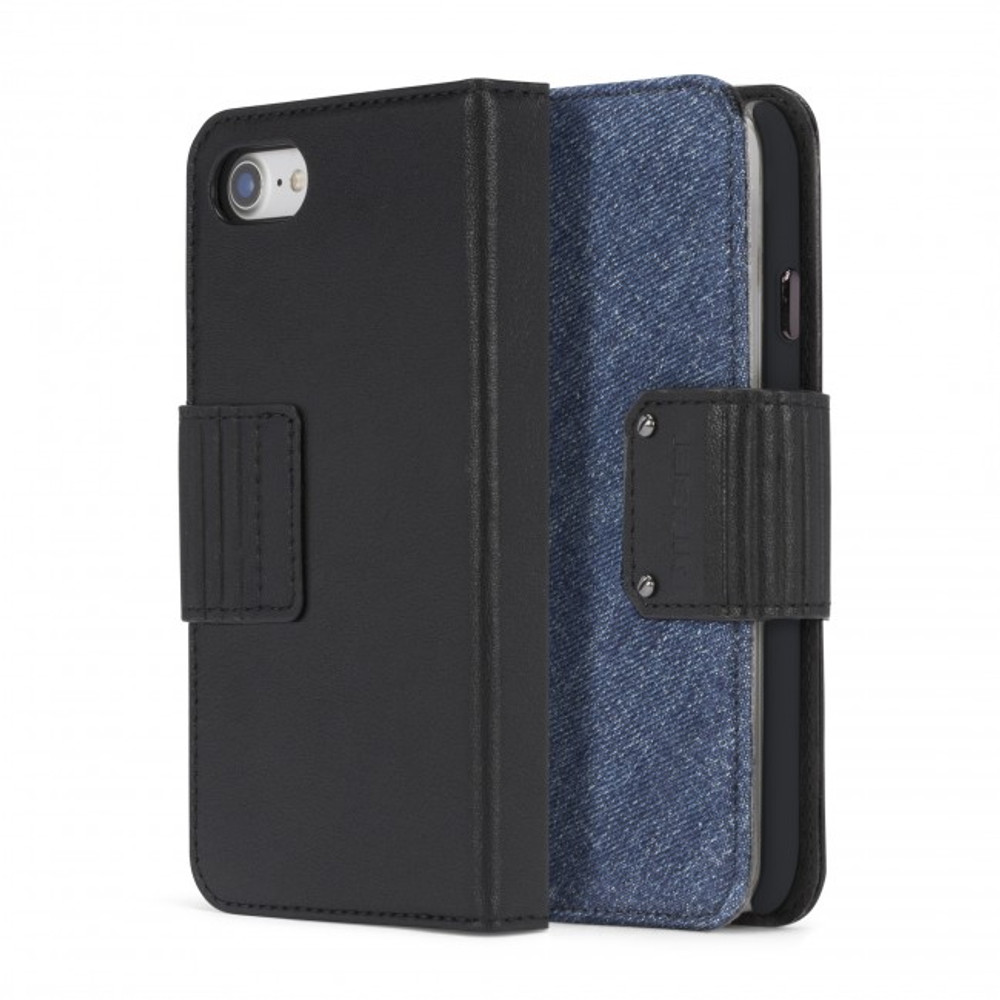 Diesel Folio Case for iPhone 8, iPhone 7 - Leather/Eagle Denim
