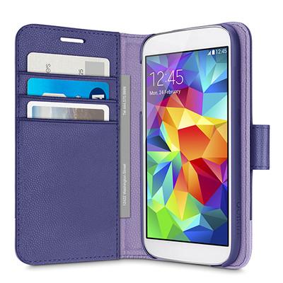Belkin 2-IN-1 Wallet Folio Case for Samsung Galaxy S5 - Ink / Lavender