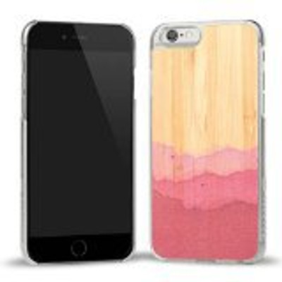 Recover Wood iPhone 6S Plus / 6 Plus Case - Dip Dye Pink / Clear