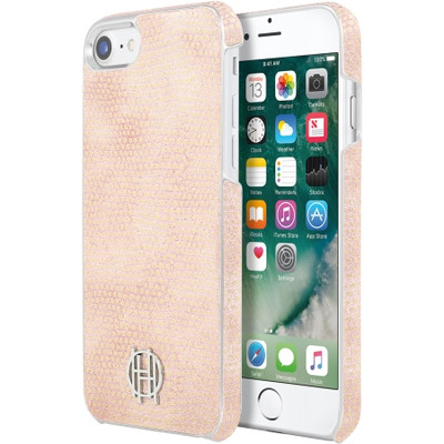 House of Harlow Snap Case for iPhone 7 Plus - Pink Kraits / Silver Metallic