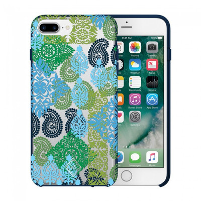 Vera Bradley Flexible Frame Case for iPhone 7 Plus, 6 Plus, 6S Plus - Caribbean Sea Multi Blue / Clear