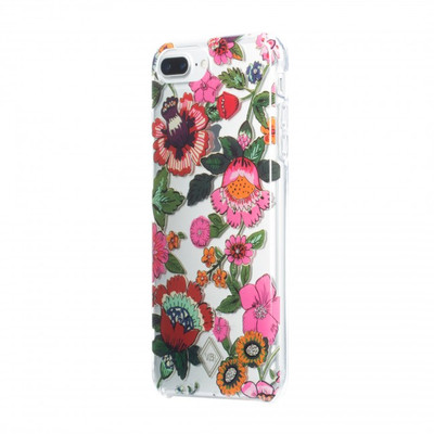 Vera Bradley Flexible Frame Case for iPhone 8 Plus, 7 Plus, 6 Plus - Coral Floral Multi Glitter