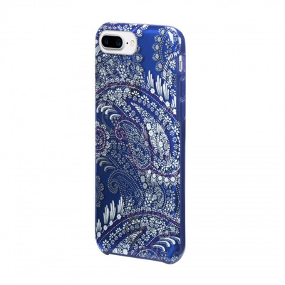 Vera Bradley Flexible Frame Case for iPhone 8 Plus, 7 Plus, 6 Plus - Paisley Petals Purple / Navy