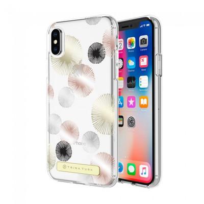 Trina Turk Translucent Case (1-PC) for iPhone X - Fireworks Gold Foil/Rose Gold Foil /Silver Foil/Black/Clear