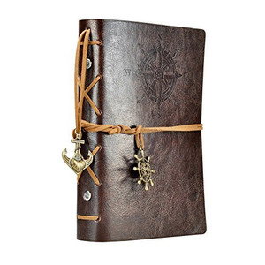 5.7Inches x4.5Inches Vintage Retro Leather Cover Notebook Journal Blank String Nautical Classic PU Leather Notebook for Diary, Travel journal and Note