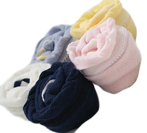 Lian LifeStyle Baby Girl Toddler 3 Pairs Combed Cotton Over-the-Knee High Socks Size 0Y-3Y Multi Color